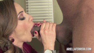 Ariella Ferrera Rocks The Black Cock