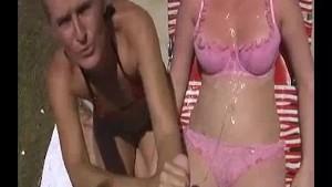 Teen s Getting A Cum Bath During Her Sun Bath