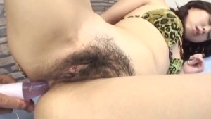 Ren Asano loves having tasty dick in her bushy cunt
