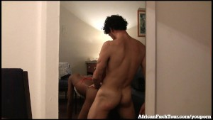 Cute African Girl Gets Fucked Doggy Style!