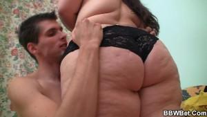 Hot fat slut jumps on cock