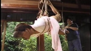 Asian girl in kimono tied up and bdsm seanced