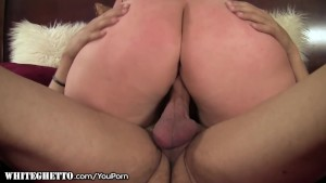 BBW MILF licks All Over his Balls
