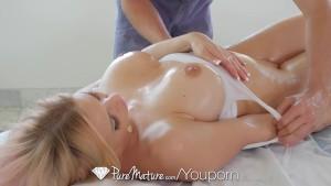 PureMature - Rachel Roxxx well lubed ass and boobs massaged