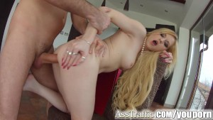 Asstraffic blonde loves anal s