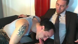 Full video: A innocent neighbour serviced his big cock by a guy!