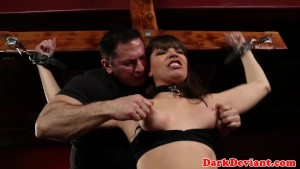 Bound screaming skank analized and throated