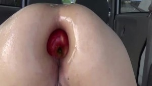 Anal fisting and stuffing her