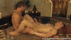 Intimate Lovers Kissing Tantra