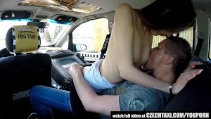 Czech Blonde Rides Taxi Driver