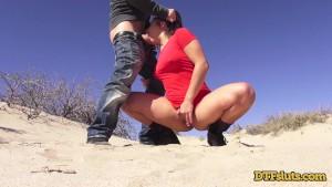 DTFSluts.com - Abella Danger s Pussy Wrecked in the Desert