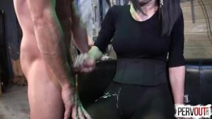 Arena Caught a New Slave PANTYHOSE LEOTARD SENSUAL FEMDOM