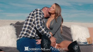 Passion-HD - NewYears fireworks by the fireplace with Kendall Kayden