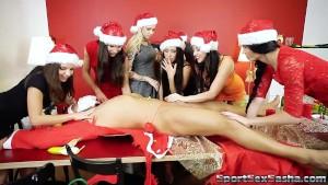 Horny Santa and 7 naughty elves