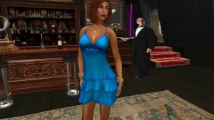 Une jolie feme virtuelle en mini robe bleu sexy au Richelieu