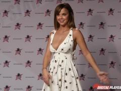 DP Star 3 - Hot Big Natural Tit Brunette Dillion Harper Deep Throat Blowjob