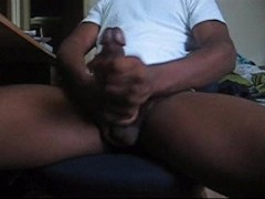 black dick jack off CUM
