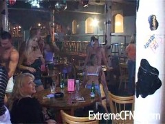 Sex starved girls on a night out!