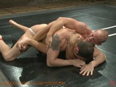 Tough guys get naked in a fight!