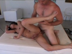 She screams hold me and jack off my cock