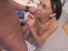 Pretty Black Girl Pussy Pumped And Swallows Cum