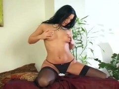 Mili Jay masturbates in stockings