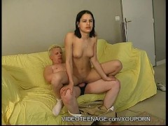 18 yo French girl fucked by old guy