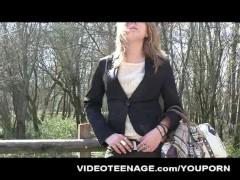 blonde teen Noemie fir... video