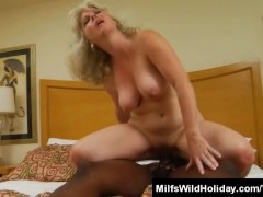 Hot Milf Stacey Fucking A Black Stud