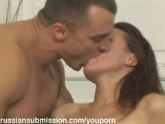 Sexy village girl takes humiliating throat and pussy fucking