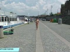 Sweet Czech Cutie Lucy Belle Naked On Public Streets
