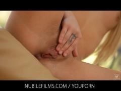 Nubile Films - Beautiful petite model loves fucking sex toys