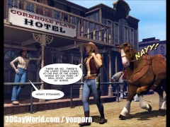 GAY COWBOY ADVENTURES 3D Gay Cartoon Comics or Anime Hentai Toon Stories