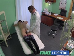 Fake Hospital Squirting MILF wants breast implants and gets a creampie injection instead