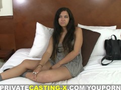 Private Casting X - Paid audition with messy cumshot