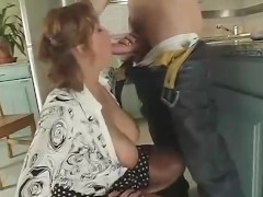 Busty Redhead Milf Fucks And Sucks A Young Dude