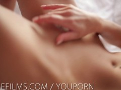 Nubile Films - Blonde bombshell Lena Loves makes herself cum