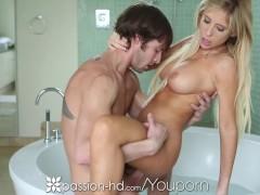HD - Passion HD Big breasted Tasha Reign gets deep creampie in bath