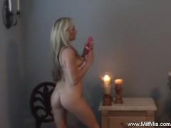 Blonde MILF On Her Chair
