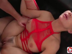 Cum in asian after passionate sex with her