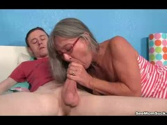 Milf Empties Step-son's Balls Sucking His Thick Cock