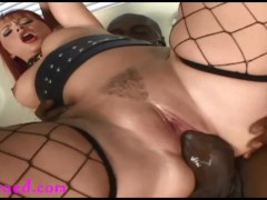 big bubble butt slut gets monster black cock anal and dp with dildo and swallows black cum