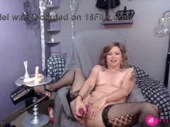 The beautiful blond MILF LillyLuck gets loud moaning orgasm – 18flirt.com
