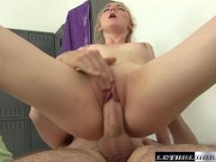Young Pornstar Iris Rose massaged and fucked facial