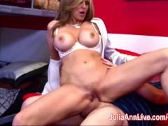 Blonde Tutor Julia Ann Fucks Nerdy Pupil!