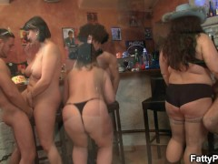 Wild huge tits group party