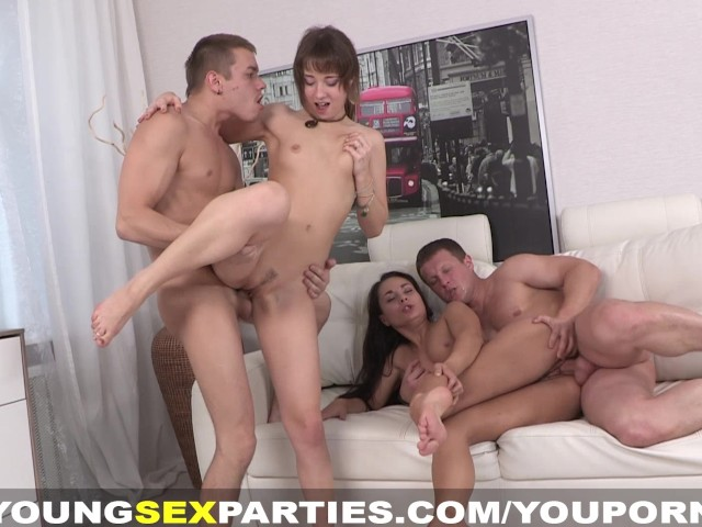 Young Sex Parties - Three-way Becomes a Foursome - Free Porn ...