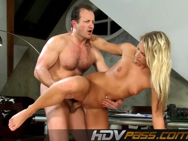 Blonde modell Christina fucks with camera man.mp4
