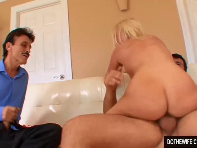 Blonde wife cuckold