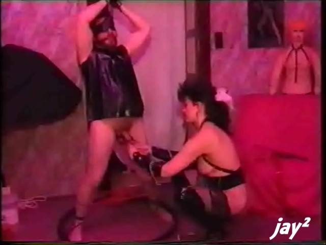 Guy in Rubber With Weights on His Balls and a Mistress of Couse - Free Porn Videos - Cliporno